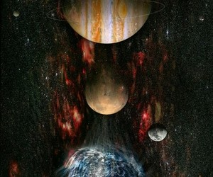 planet, galaxy, and space image