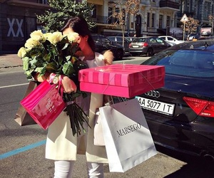 girl, luxury, and rose image