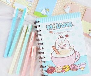 stationery, cute, and molang image