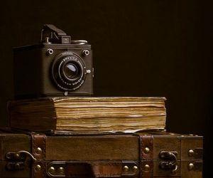 antique, camera, and book image
