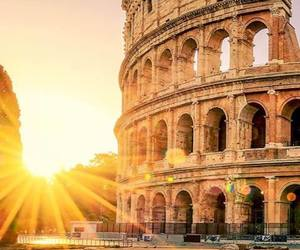 architecture, colosseum, and sun image