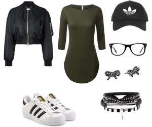 adidas, t shirt dress, and black image