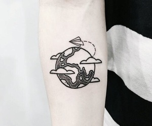 tattoo, black, and travel image