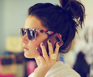 girl, hair, and phone image