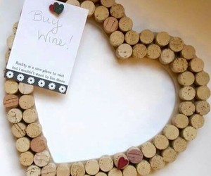 heart, cork, and diy image
