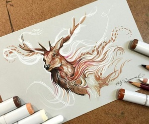 drawing, art, and animal image
