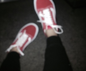 grunge, old skool, and red vans image