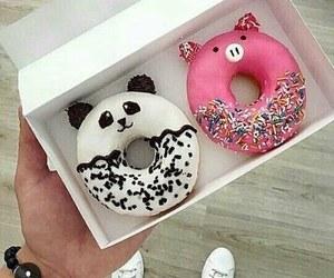 donuts, food, and panda image