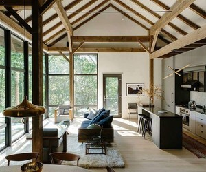 beams, luxury, and trees image