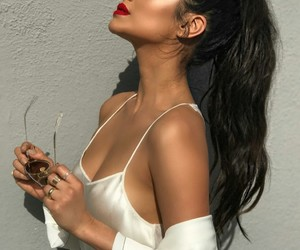 fashion, makeup, and red lipstick image