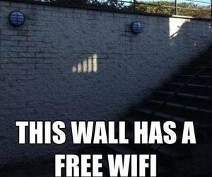humor, wall, and wi fi image
