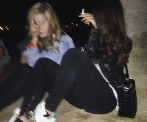 bad, blurry, and girls image