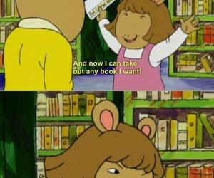 arthur, book, and funny image