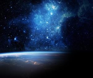 Bleu, blue, and galaxie image