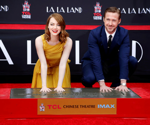 emma stone, red carpet, and ryan gosling image