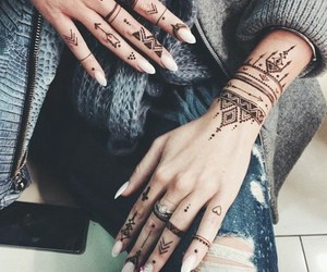 tattoo, nails, and henna image