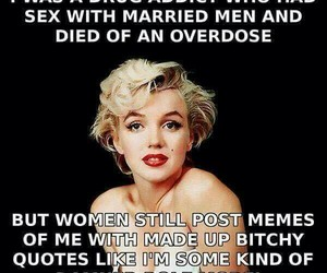Marilyn Monroe, quote, and funny image