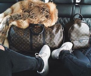 Louis Vuitton, luxury, and fur image