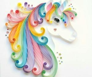 unicorn, art, and Paper image
