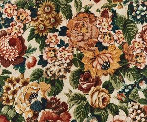 floral, flower, and velvet image