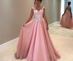 dress, pink, and princess image