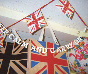 flag, keep calm, and british image