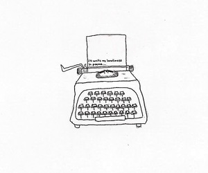 fine line, typewriter, and art image