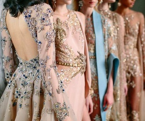 model, elie saab, and fashion image