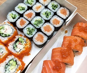 eat, fish, and rolls image