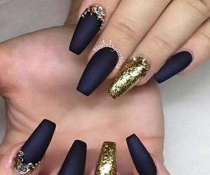 nails, art, and gold image