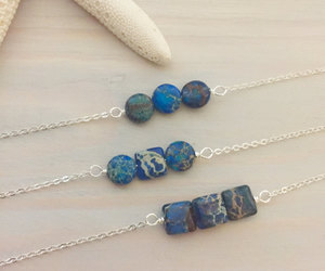 etsy, blue stone necklace, and blue stone jewelry image