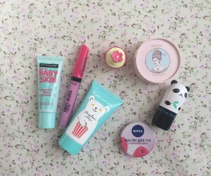 blue, girls, and cosmetics image