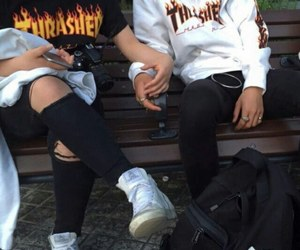 couple, thrasher, and tumblr image