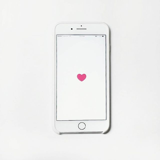 heart, minimalism, and iphone white image