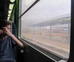 boy, train, and grunge image