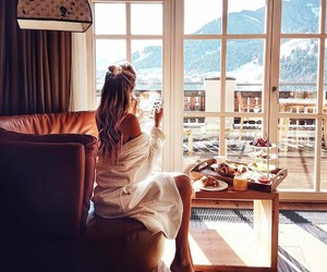 girl, breakfast, and morning image