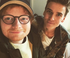 ed sheeran, joe sugg, and youtube image