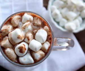 chocolate, hot ​chocolate, and marshmallow image