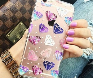 iphone, diamond, and case image