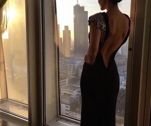 dress, beauty, and black image