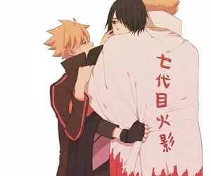 naruto, sasunaru, and uchiha sasuke image