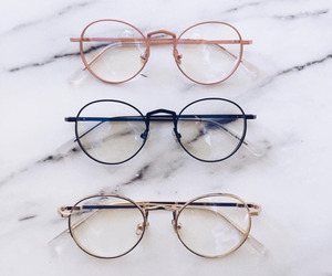 glasses, accessories, and marble image