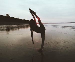 ballerina, ballet, and beach image