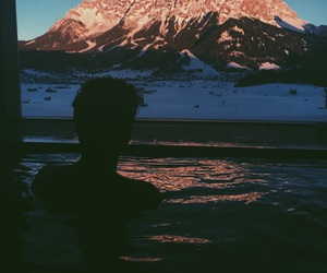 boy, snow, and water image
