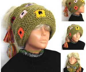 etsy, hair wrap, and slouchy beanies image