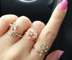 rings, nails, and flowers image
