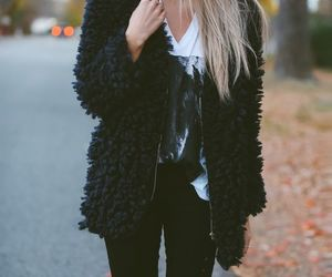blonde girl, winter look, and fashion girl image