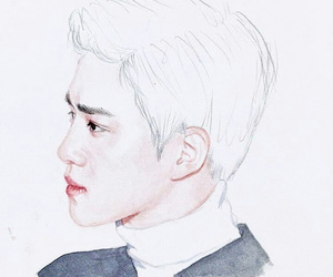 art, drawing, and exo image