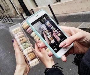 photo, iphone, and macaron image