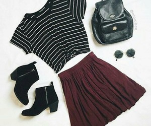outfit, black, and red image